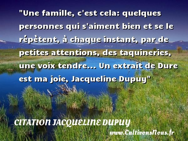citation jacqueline dupuy