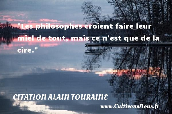citation alain touraine