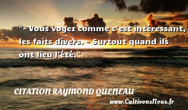 citation raymond queneau