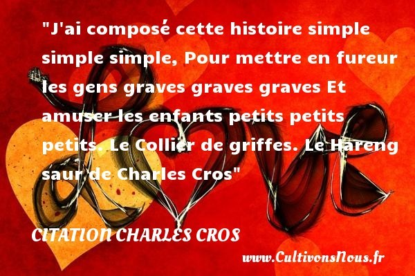 citation charles cros