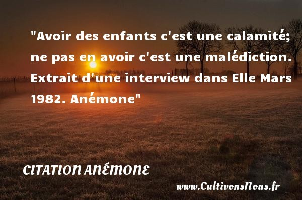 citation anémone