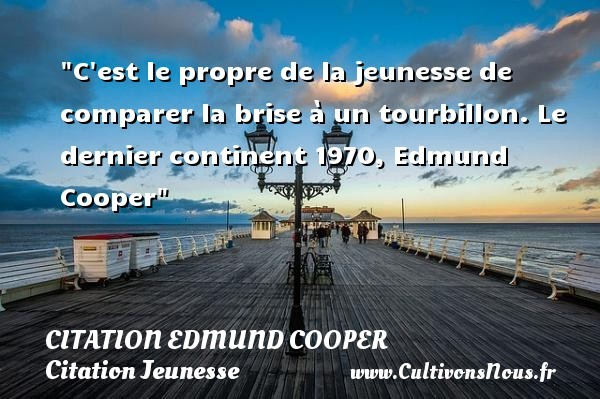 citation edmund cooper