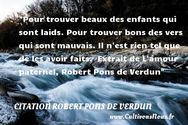 citation robert pons de verdun