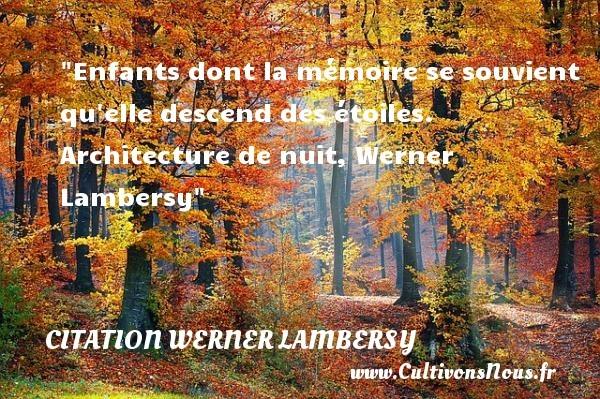 citation werner lambersy