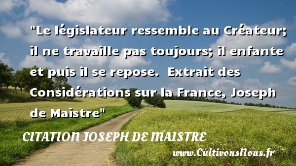 citation joseph de maistre
