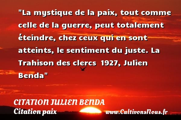 citation julien benda