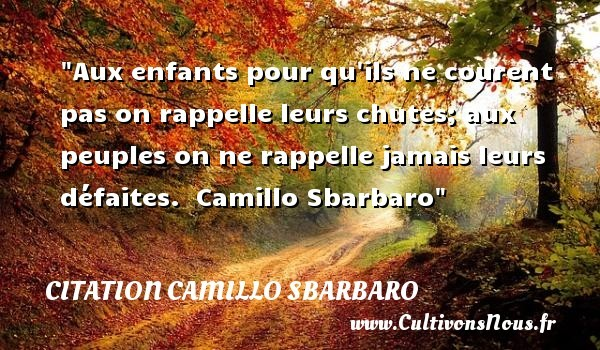 citation camillo sbarbaro