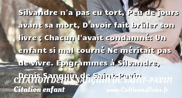 citation denis sanguin de saint-pavin