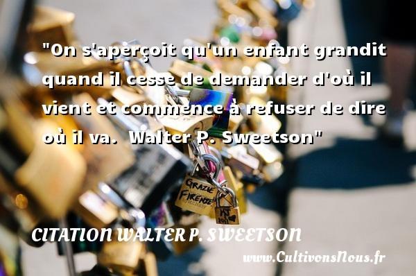 citation walter p. sweetson