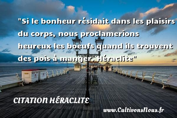 citation héraclite