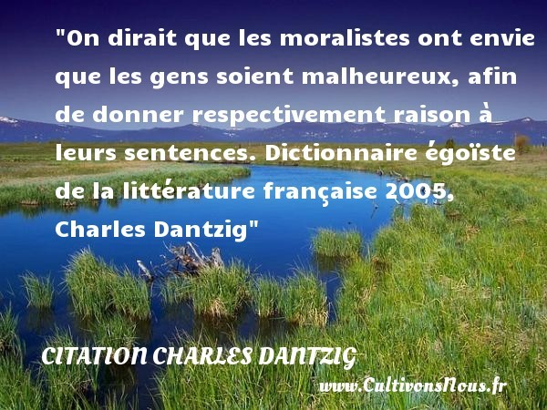citation charles dantzig
