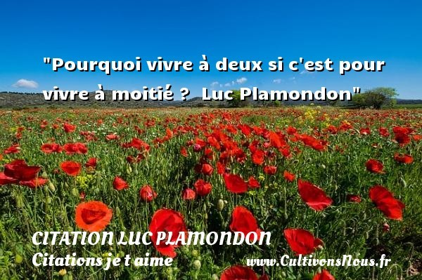 citation luc plamondon