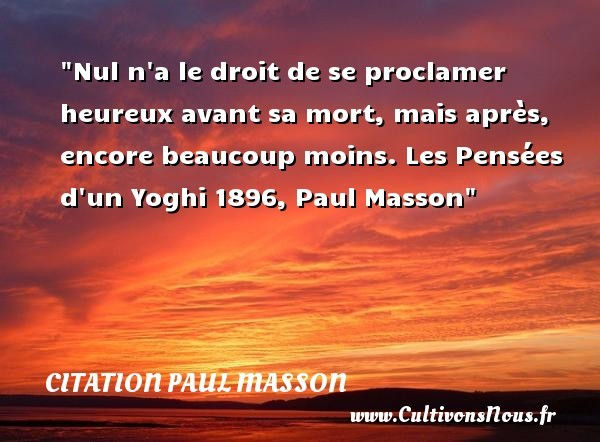 citation paul masson