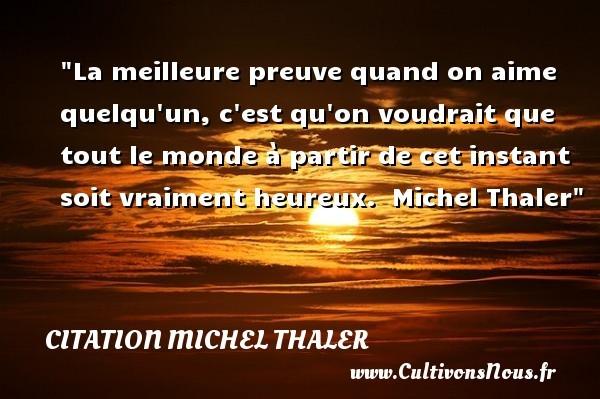 citation michel thaler
