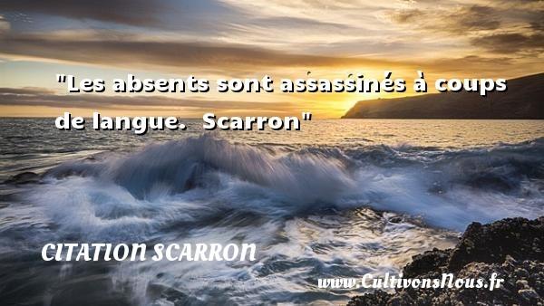 citation scarron