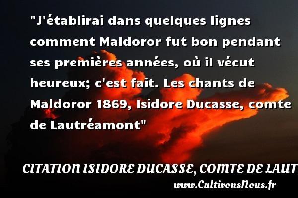 citation isidore ducasse, comte de lautréamont