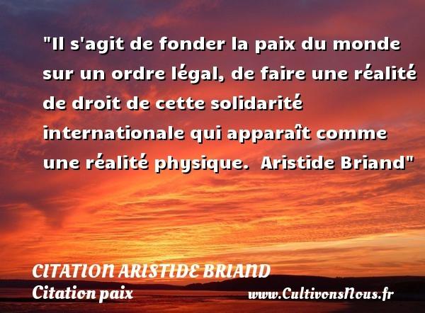 citation aristide briand