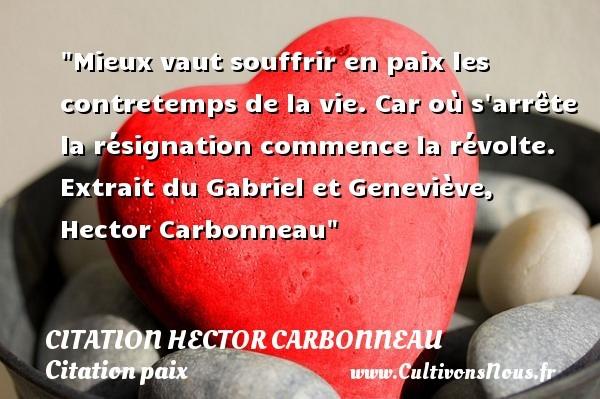 citation hector carbonneau