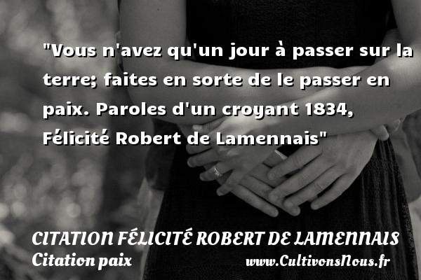 citation félicité robert de lamennais