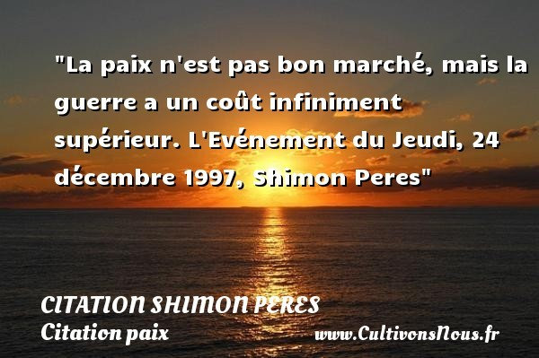 citation shimon peres