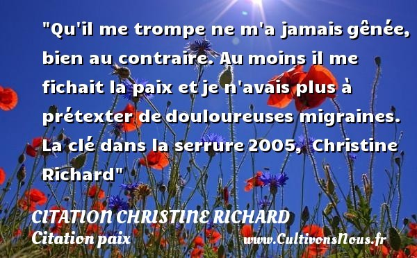 citation christine richard