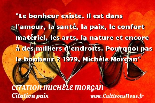 citation michèle morgan