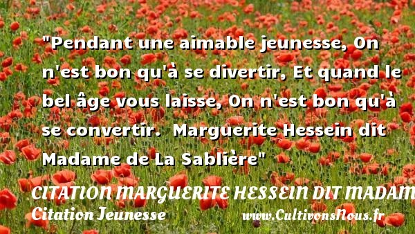 citation marguerite hessein dit madame de la sablière