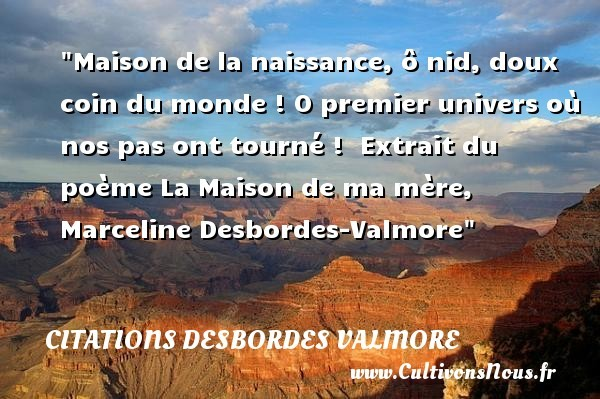citations desbordes valmore
