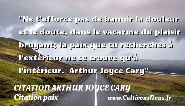 citation arthur joyce cary