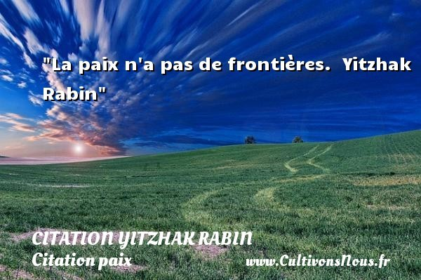 citation yitzhak rabin