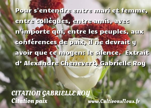 citation gabrielle roy