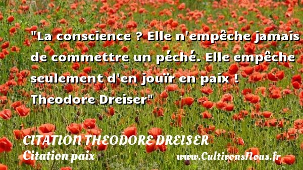 citation theodore dreiser
