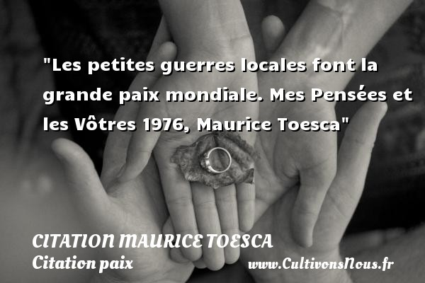 citation maurice toesca