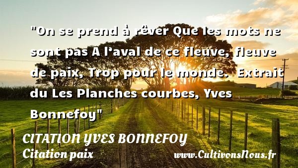 citation yves bonnefoy