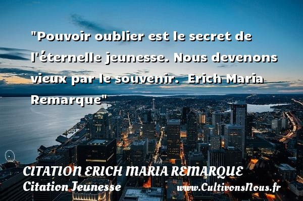 citation erich maria remarque