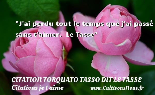 citation torquato tasso dit le tasse