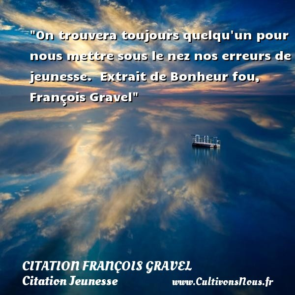 citation françois gravel