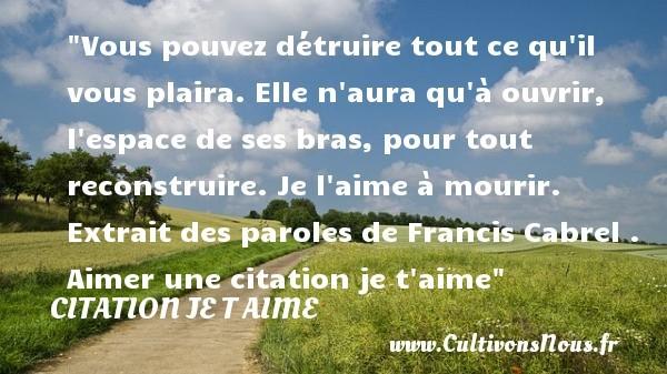 citation francis cabrel