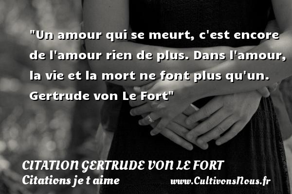 citation gertrude von le fort