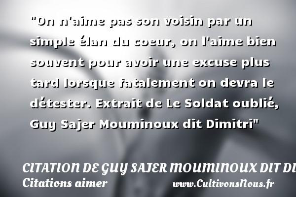 citation de guy sajer mouminoux dit dimitri