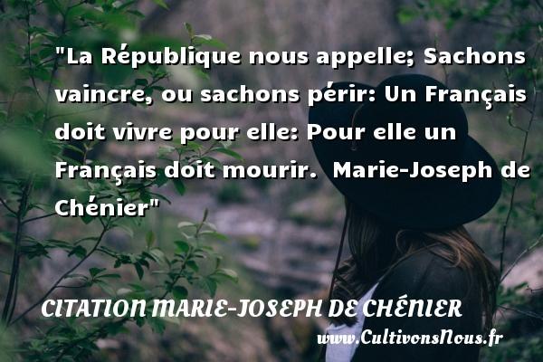 citation marie-joseph de chénier