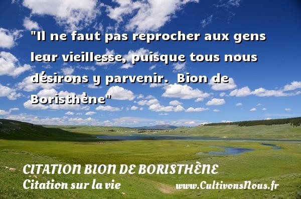 citation bion de boristhène