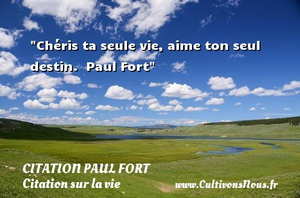 citation paul fort