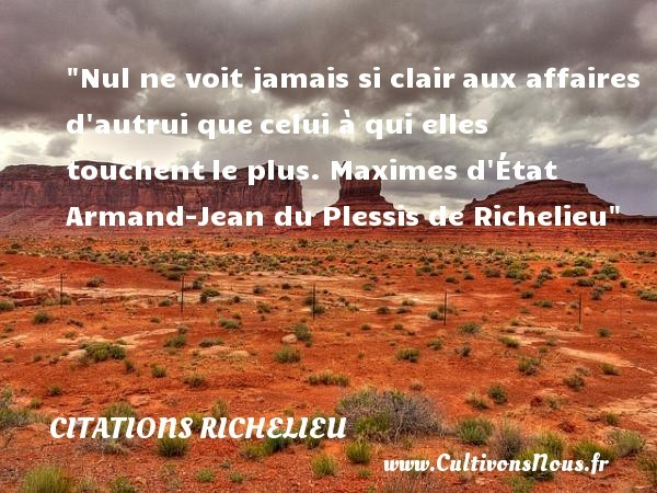 citations richelieu