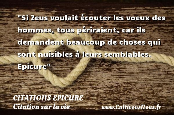 citations epicure