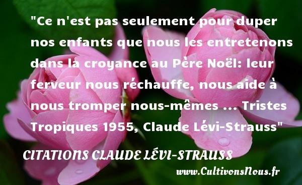 citations claude lévi-strauss
