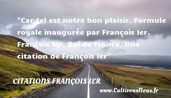 citations françois ier