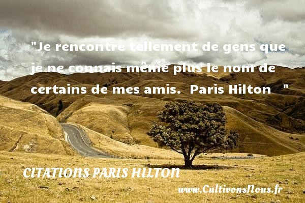 citations paris hilton