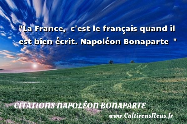 citations napoléon bonaparte