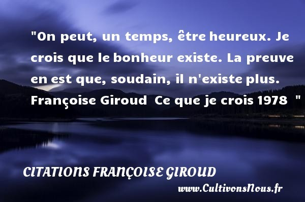 citations françoise giroud